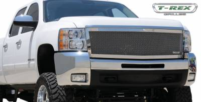 T-Rex - Chevrolet Silverado T-Rex Upper Class Polished Stainless Mesh Grille - 1PC Style - 54113