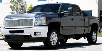 T-Rex - Chevrolet Silverado T-Rex Upper Class Polished Stainless Mesh Grille - 1PC Style - 54115