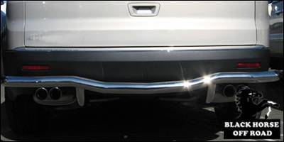 Black Horse - GMC Acadia Black Horse Rear Bumper Guard - Single Tube