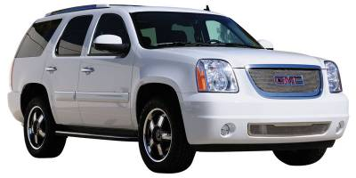 T-Rex - GMC Yukon T-Rex Upper Class Polished Stainless Mesh Grille with Formed Mesh - Overlay with Logo Opening - 54172