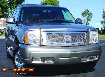 T-Rex - Cadillac Escalade T-Rex Upper Class Polished Stainless Mesh Grille with Recessed Logo Area - 54182