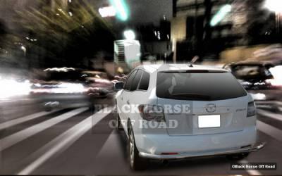 Black Horse - Mazda CX-7 Black Horse Rear Bumper Guard - Single Tube