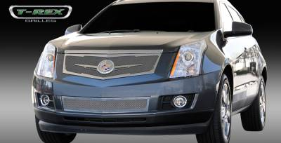 T-Rex - Cadillac SRX T-Rex Upper Class Mesh Grille - Replacement - Full Opening with Winged OE Logo Plate - Polished - 54186