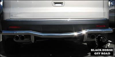 Black Horse - Buick Enclave Black Horse Rear Bumper Guard - Single Tube