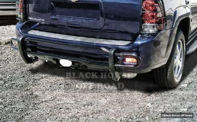 Black Horse - GMC Envoy Black Horse Rear Bumper Guard - Double Tube