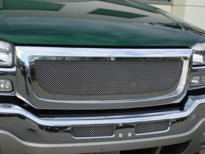 T-Rex - GMC Sierra T-Rex Upper Class Polished Stainless Mesh Grille - 54200