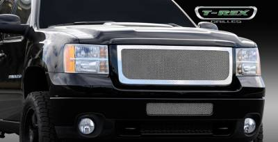 T-Rex - GMC Sierra T-Rex Upper Class Polished Stainless Mesh Grille - 54209
