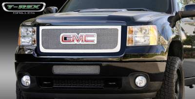 T-Rex - GMC Sierra T-Rex Upper Class Polished Stainless Mesh Grille - Overlay with Logo Opening - 54210