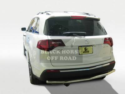 Black Horse - Acura MDX Black Horse Rear Bumper Guard - Single Tube