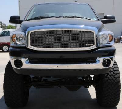 T-Rex - Dodge Ram T-Rex Upper Class Polished Stainless Mesh Grille - Full Open - 1PC - 54459