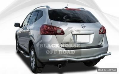 Black Horse - Nissan Rogue Black Horse Rear Bumper Guard - Single Tube