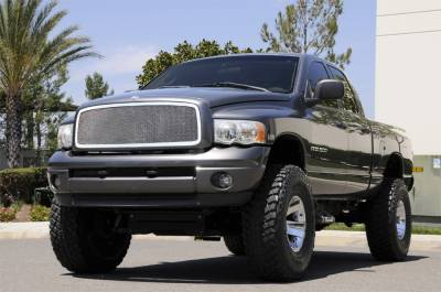 T-Rex - Dodge Ram T-Rex Upper Class Polished Stainless Mesh Grille - Full Open - 1PC - 54461