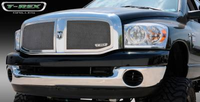T-Rex - Dodge Ram T-Rex Upper Class Polished Stainless Mesh Grille - 2PC - 54467