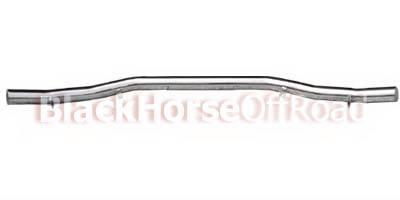 Black Horse - Hyundai Santa Fe Black Horse Rear Bumper Guard - Single Tube