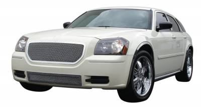 T-Rex - Dodge Magnum T-Rex Upper Class Polished Stainless Mesh Grille - Custom Full Opening Style - 54473
