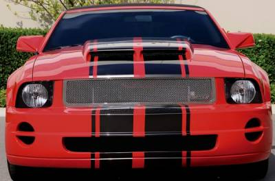 T-Rex - Ford Mustang T-Rex Upper Class Polished Stainless Mesh Grille with Formed Mesh Center - 54515