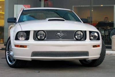 T-Rex. - Ford Mustang T-Rex Upper Class Polished Stainless Mesh Grille with Formed Mesh - 3PC - 54516