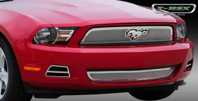 T-Rex. - Ford Mustang T-Rex Upper Class Polished Stainless Mesh Grille with Formed Mesh - 54518