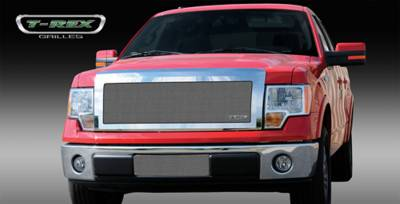 T-Rex - Ford F150 T-Rex Upper Class Polished Stainless Mesh Grille - Full Opening - With Formed Mesh Center - 1PC - 54568