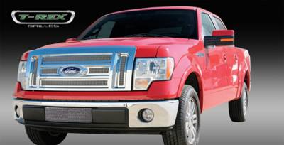 T-Rex - Ford F150 T-Rex Upper Class Polished Stainless Mesh Grille with Formed Mesh - 6PC - 54569