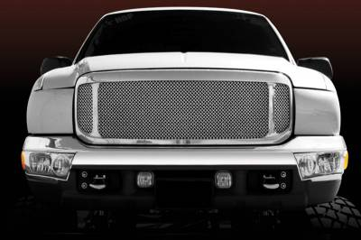 T-Rex - Ford Superduty T-Rex Upper Class Polished Stainless Mesh Grille - 54571
