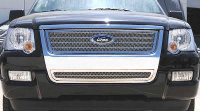 T-Rex - Ford Expedition T-Rex Upper Class Polished Stainless Mesh Grille with Logo Cut Out - 54659