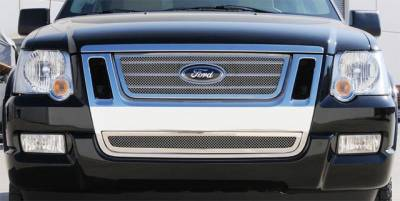 T-Rex - Ford Expedition T-Rex Upper Class Polished Stainless Mesh Grille with Logo Cut Out - 54662