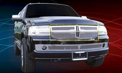 T-Rex - Lincoln Navigator T-Rex Upper Class Polished Stainless Mesh Grille - 4PC - 54712
