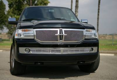 T-Rex - Lincoln Navigator T-Rex Upper Class Polished Stainless Mesh Grille - Formed Mesh - 2PC - 54713