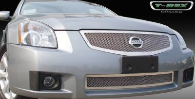 T-Rex - Nissan Maxima T-Rex Upper Class Polished Stainless Mesh Grille - 54757