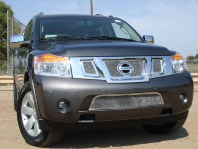 T-Rex - Nissan Armada T-Rex Upper Class Polished Stainless Mesh Grille with Logo Opening - 3PC - 54782