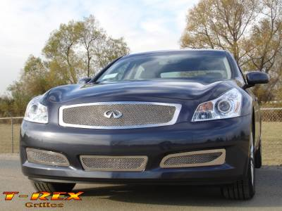 T-Rex - Infiniti G35 4DR T-Rex Upper Class Polished Stainless Mesh Grille with Formed Mesh Center - 54809