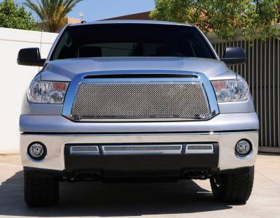 T-Rex - Toyota Tundra T-Rex Upper Class Polished Stainless Mesh Grille with Formed Mesh Center - Insert - 54963