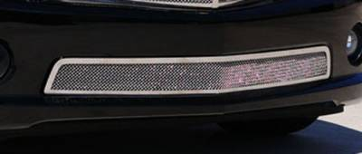 T-Rex - Chevrolet Camaro T-Rex Upper Class Polished Stainless Bumper Mesh Grille with Formed Mesh Center - 55028