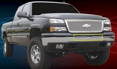 T-Rex - Chevrolet Silverado T-Rex Upper Class Polished Stainless Bumper Mesh Grille - 55103