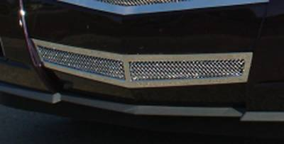 T-Rex - Cadillac CTS T-Rex Upper Class Polished Stainless Bumper Mesh Grille with Formed Mesh Center - Center Only - 55197
