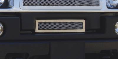 T-Rex - Hummer H2 T-Rex Upper Class Polished Stainless Bumper Mesh Grille with Formed Mesh Center - 55290