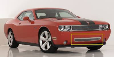 T-Rex - Dodge Challenger T-Rex Upper Class Polished Stainless Bumper Mesh Grille with Formed Mesh with Frame - 55415
