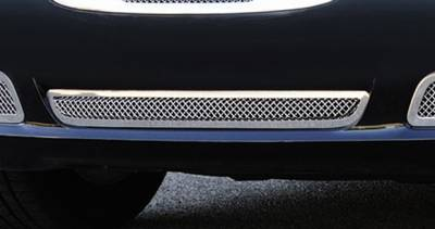 T-Rex - Chrysler 300 T-Rex Upper Class Polished Stainless Bumper Mesh Grille with Frame and Formed Mesh Center - 55433
