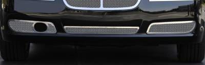 T-Rex - Chrysler 300 T-Rex Upper Class Polished Stainless Bumper Mesh Grilles - 2PC - 55435