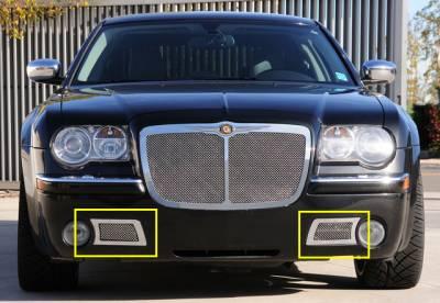 T-Rex - Chrysler 300 T-Rex Upper Class Polished Stainless Bumper Mesh Grille - 55471