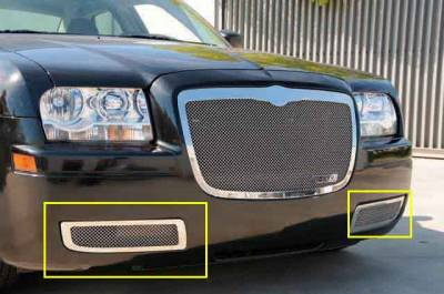T-Rex - Chrysler 300 T-Rex Upper Class Polished Stainless Bumper Mesh Grille - 55472