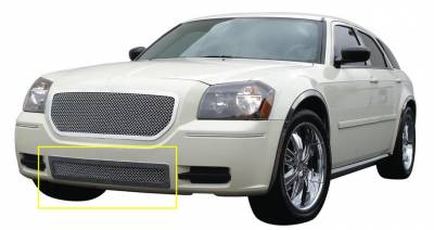 T-Rex - Dodge Magnum T-Rex Upper Class Polished Stainless Bumper Mesh Grille - 55473