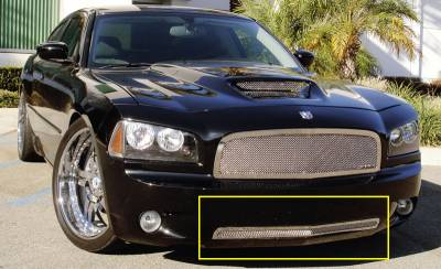 T-Rex - Dodge Charger T-Rex Upper Class Polished Stainless Bumper Mesh Grille - 55474