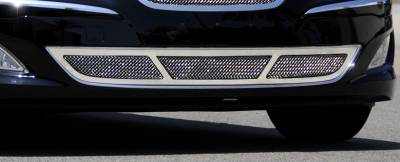 T-Rex - Hyundai Genesis T-Rex Upper Class Polished Stainless Bumper Mesh Grille with Formed Mesh Center - 55498