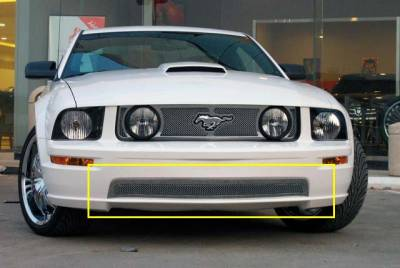 T-Rex - Ford Mustang T-Rex Upper Class Polished Stainless Bumper Mesh Grille with Formed Mesh Center - 55516