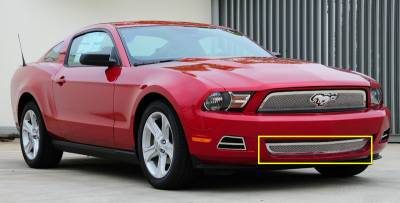 T-Rex - Ford Mustang T-Rex Upper Class Polished Stainless Bumper Mesh Grille with Formed Mesh Center - 55518