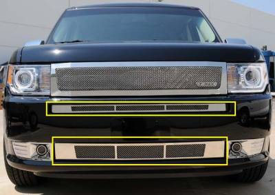 T-Rex - Ford Flex T-Rex Upper Class Polished Stainless Bumper Mesh Grille - 2PC - 55523