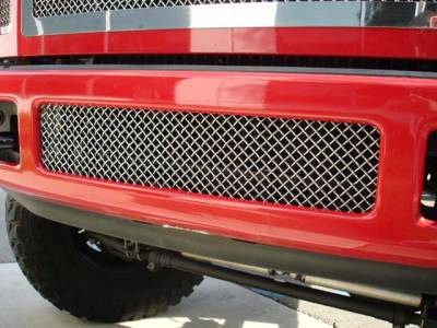T-Rex - Ford Superduty T-Rex Upper Class Polished Stainless Bumper Mesh Grille - 55563