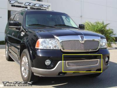 T-Rex - Lincoln Navigator T-Rex Upper Class Polished Stainless Bumper Mesh Grille - 55695